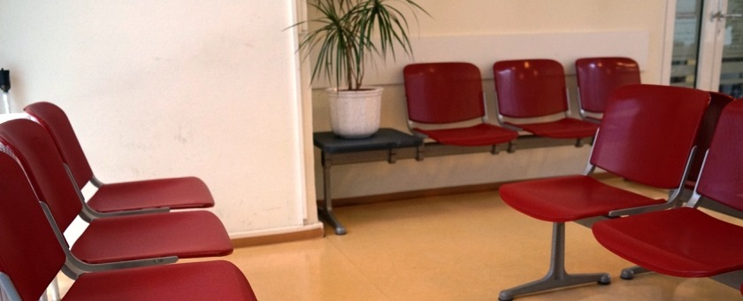 Empty GP surgery - GPs need telephone consultations