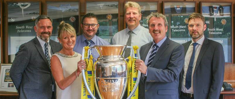 swcomms directors with Premiership cup image