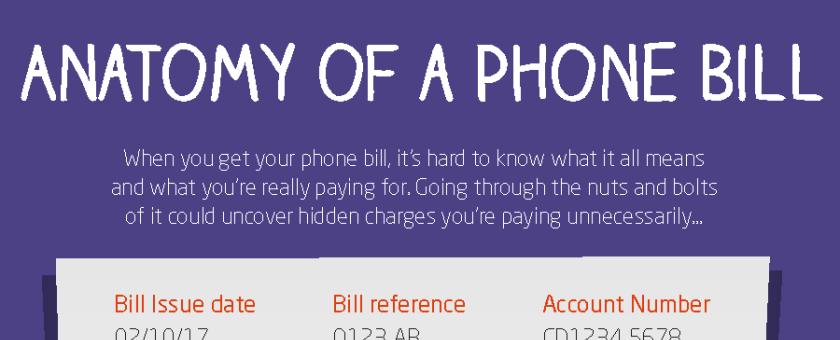 Phone bill inforgraphic image