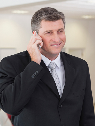 Business man on mobile