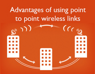 Advantages of using point to point wireless links