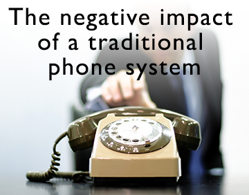 negative impact of a traditional phone system